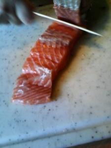 pavé de saumon frais