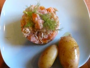 tarte de saumon aux clémentines confites