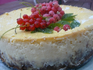 cheesecake citron groseilles