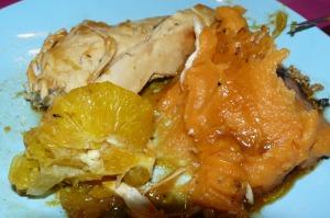 poulet rôti à l'orange