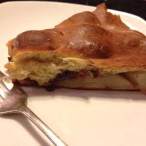 tarte briochée aux poires