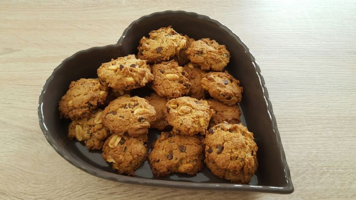 cookies cacahuetes huile d'olive