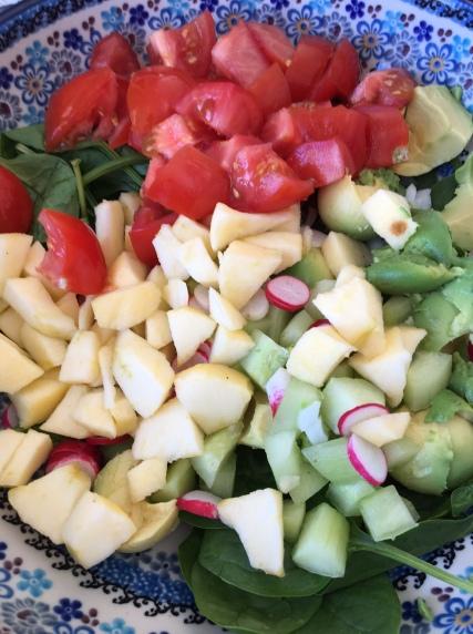 salade de pousses d'épinards (2)