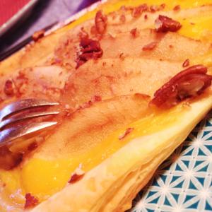tarte fine poire orange noix de pécan