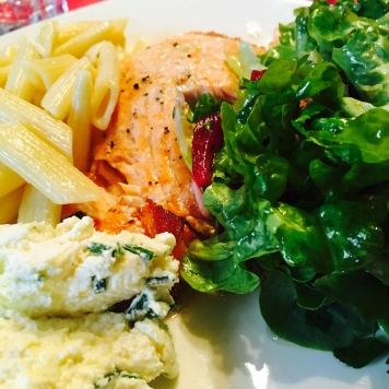 filet de saumon et betterave