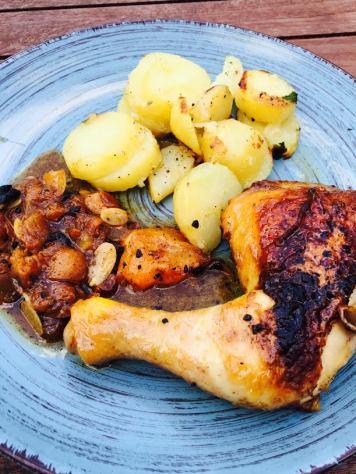poulet abricot et raisin