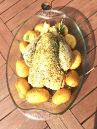 poulet au romarin et à l'origan
