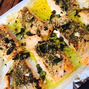 saumon rôti