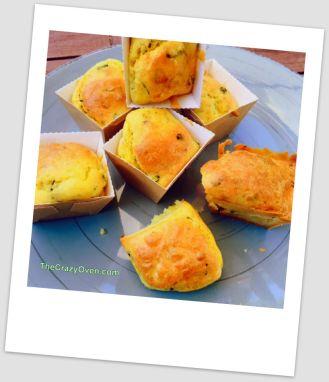mini cake courgette feta et citron