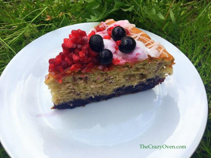 cake myrtilles framboise citron vert