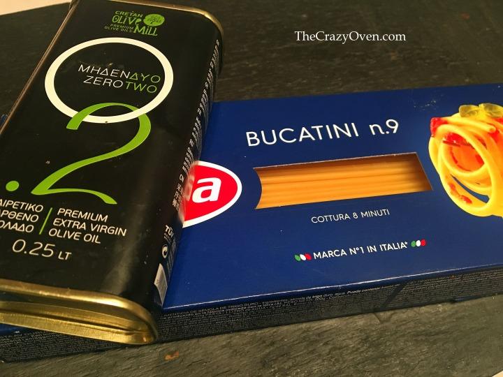 pâte et huile d'olive