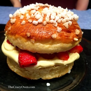 Mini tropezienne aux fraises
