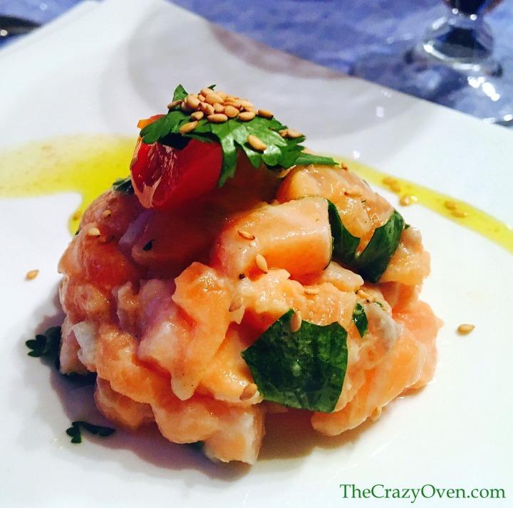 tartare de saumon coriandre