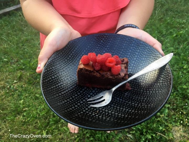 brownies choco framboises