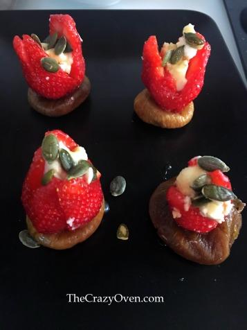 Tapas fraise figues caprice des dieux