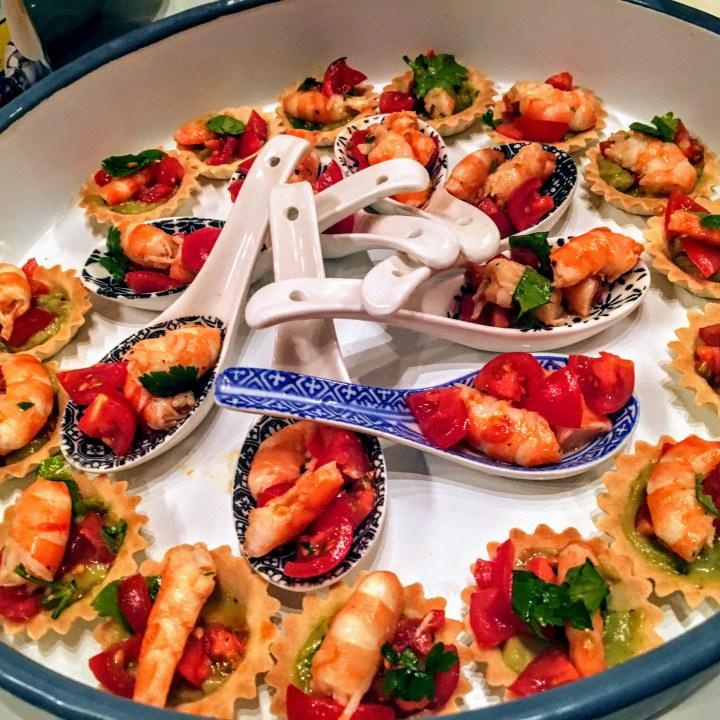 tartelettes de crevettes marinées