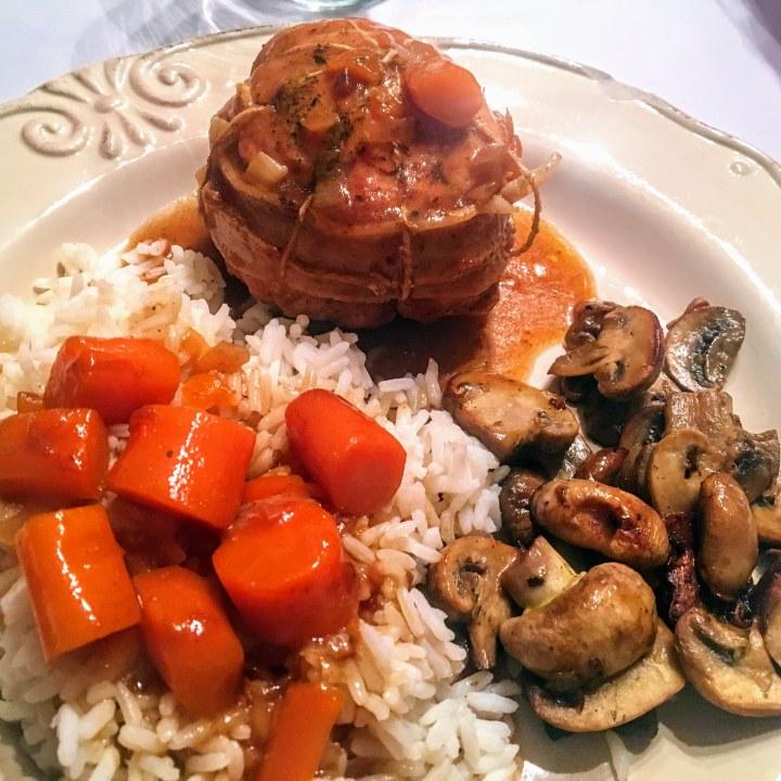 Paupiettes de veau aux carottes et sa poêlée de champignons (3)