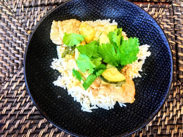 Curry vert de dinde aux courgettes (2)