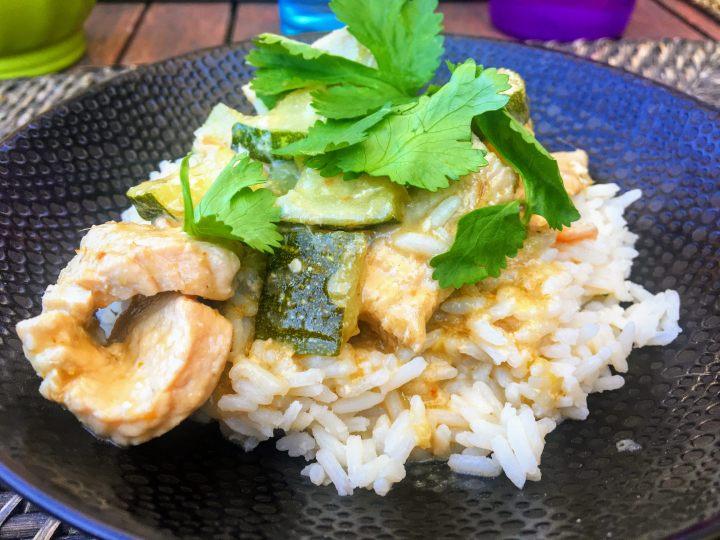 Curry vert de dinde aux courgettes (3)